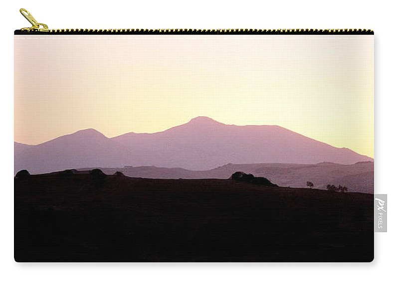Spain Carry-all Pouch featuring the photograph Sunset Over The Andalucian Mountains Near Villanueva De La Concepcion by Mal Bray