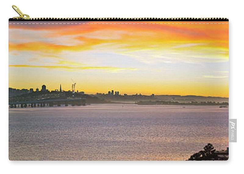 San Francisco Carry-all Pouch featuring the photograph Sunset Over The Bay by Kelley King