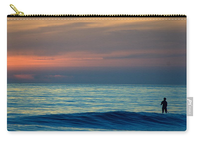 Carry-all Pouch featuring the photograph Sunset Paddle by Todd Hummel