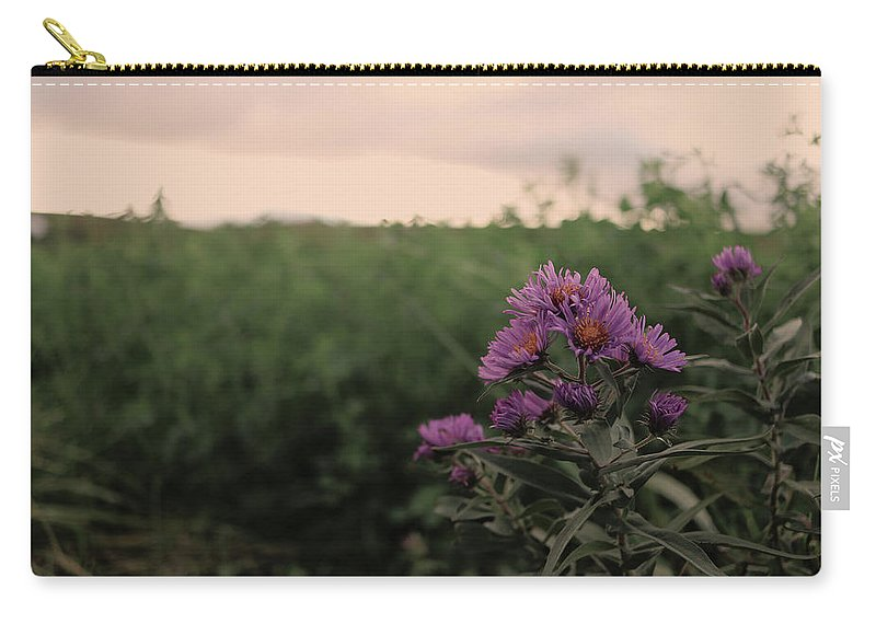 Sunset Carry-all Pouch featuring the photograph Sunset Purple by James Thomas