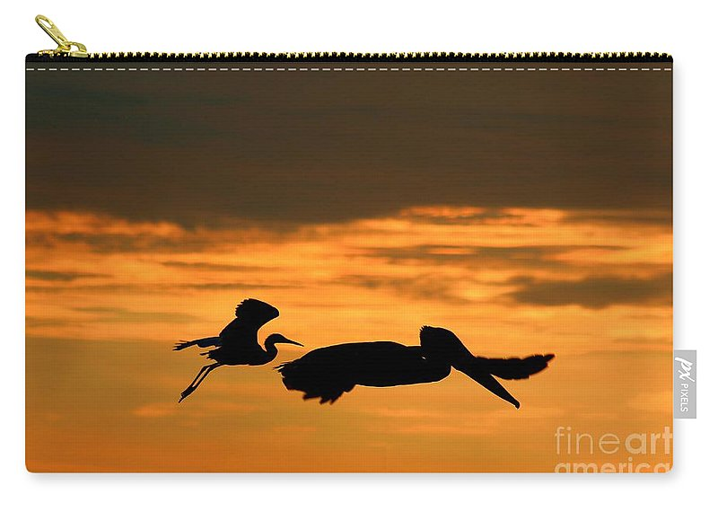 Photo For Sale Carry-all Pouch featuring the photograph Sunset Race by Robert Wilder Jr