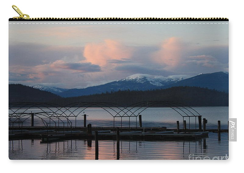 Priest Lake Carry-all Pouch featuring the photograph Sunset Reflecting Off Priest Lake by Carol Groenen