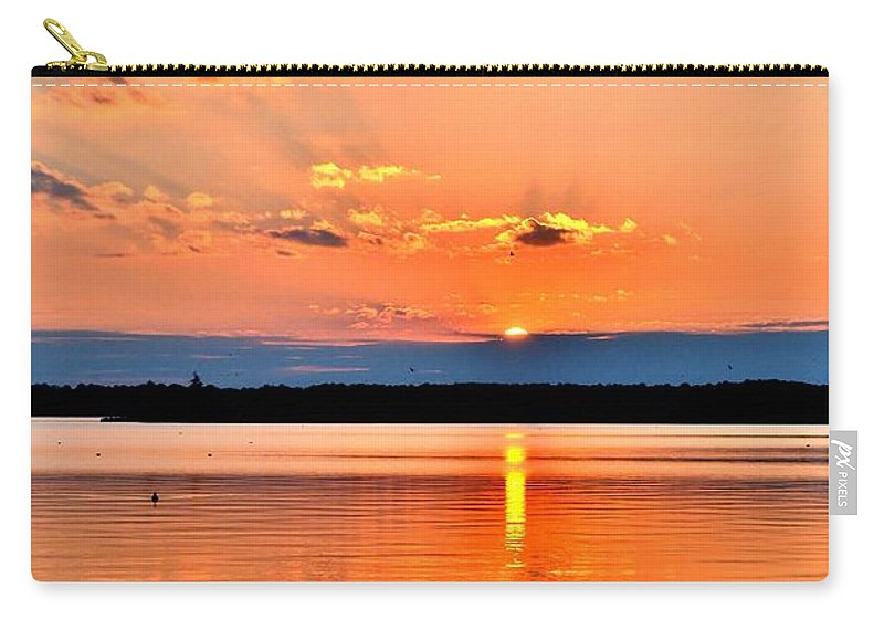 Sunset Carry-all Pouch featuring the photograph Sunset Reflections 2 by Kim Bemis