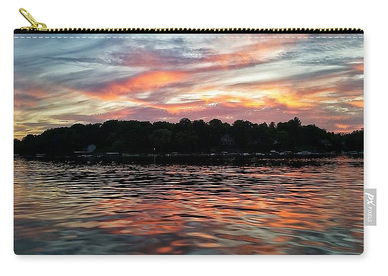 Lake Carry-all Pouch featuring the photograph Sunset Reflections by Nikki Watson  McInnes