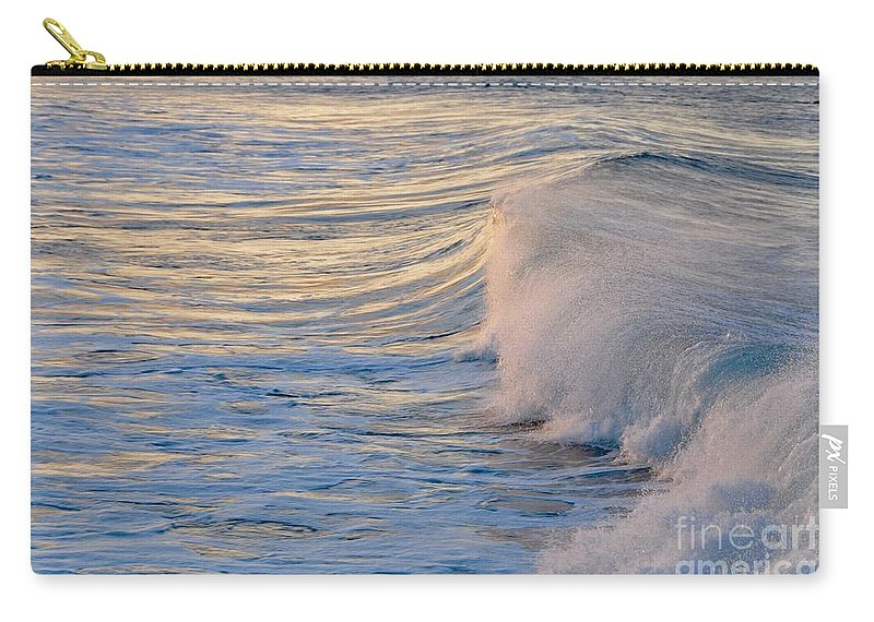 Gold Coast Carry-all Pouch featuring the photograph Sunset Ribbons by Csilla Florida
