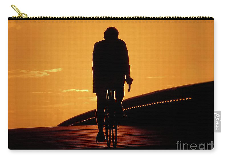 Fine Art Photography Carry-all Pouch featuring the photograph Sunset Ride by David Lee Thompson