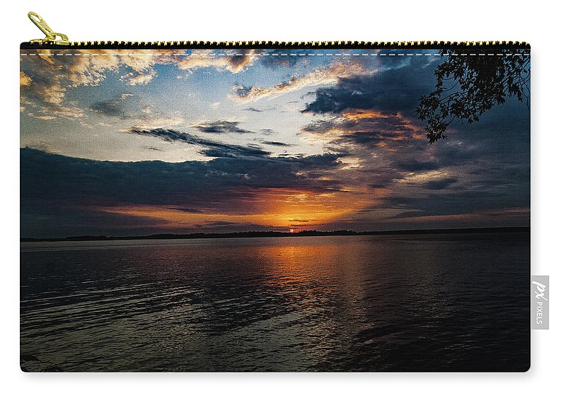 Sunrise Carry-all Pouch featuring the photograph Sunset Ride by Neal Nealis