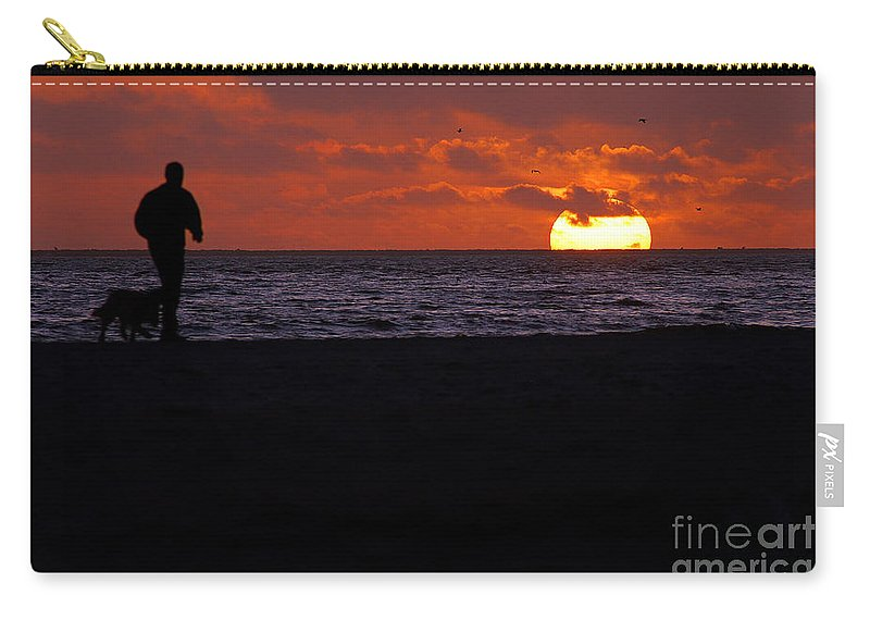 Clay Carry-all Pouch featuring the photograph Sunset Run by Clayton Bruster