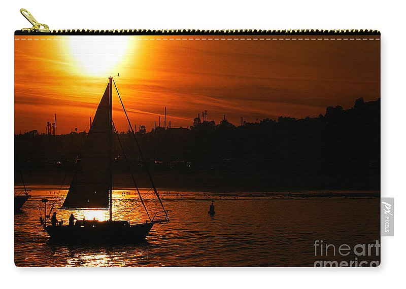 Clay Carry-all Pouch featuring the photograph Sunset Sailing by Clayton Bruster
