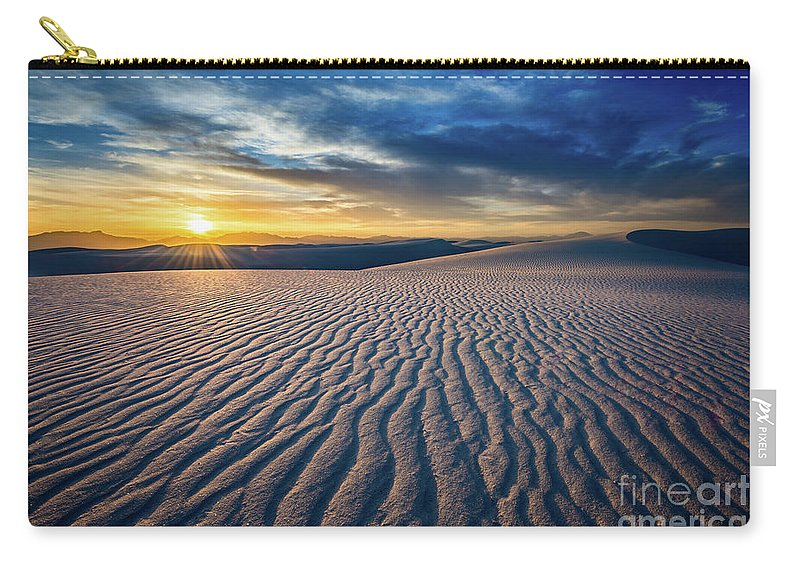 White Sands National Monument Carry-all Pouch featuring the photograph Sunset Sands by Jamie Pham