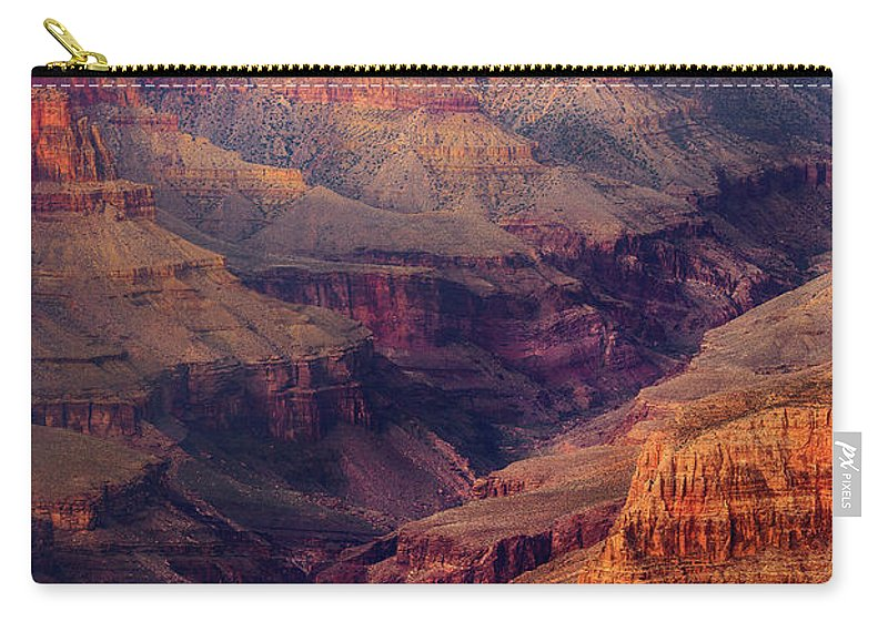 Grand Canyon Carry-all Pouch featuring the photograph Sunset Scar by Jon Fischer