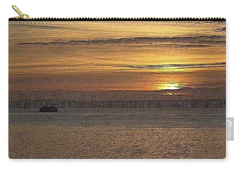 Sunset Carry-all Pouch featuring the digital art Sunset Serenade by Tim Allen