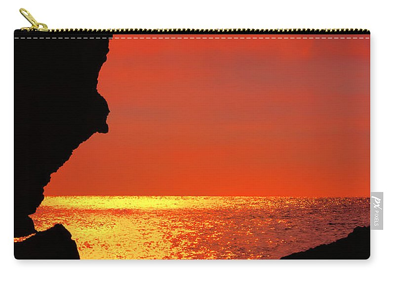 Golden Rays Carry-all Pouch featuring the photograph Sunset Silhouettes by Nadia Sanowar