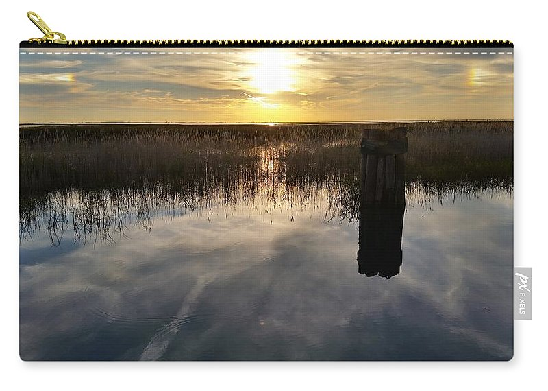 Lake St Clair Carry-all Pouch featuring the photograph Sunset St Clair by Dawn Stone