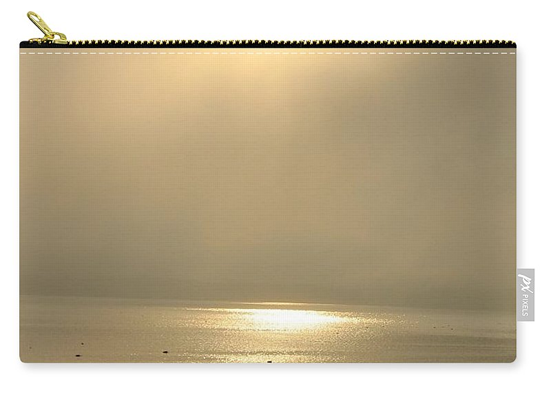 Sun Carry-all Pouch featuring the photograph Sunset Through Fog by Kelly Mezzapelle