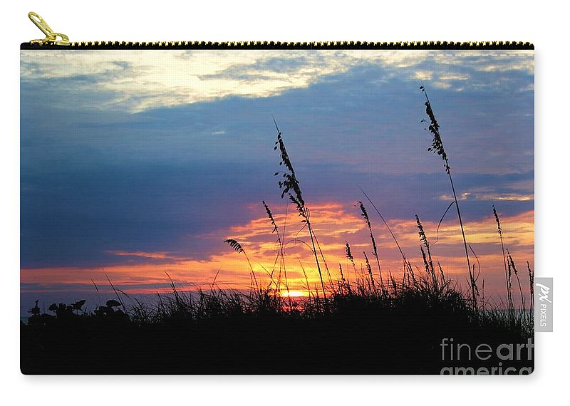Photo For Sale Carry-all Pouch featuring the photograph Sunset Through The Oats by Robert Wilder Jr