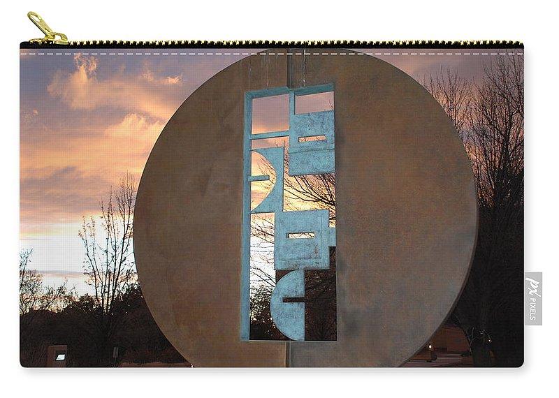 Pop Art Carry-all Pouch featuring the photograph Sunset Thru Art by Rob Hans