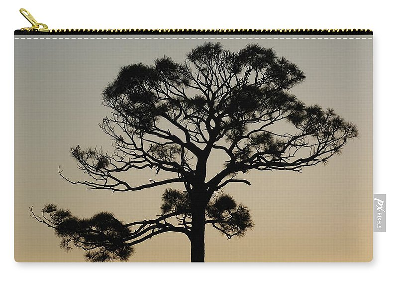 Tree Carry-all Pouch featuring the photograph Sunset Tree by Rob Hans