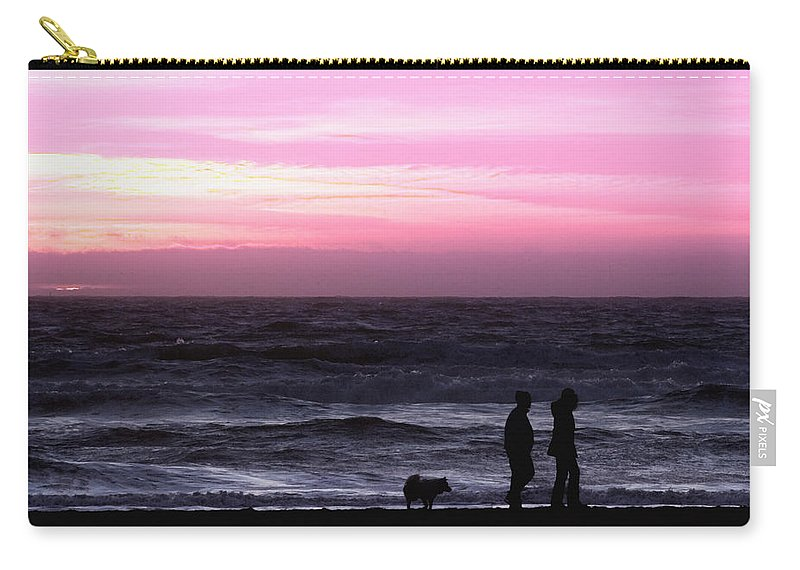 Nature Carry-all Pouch featuring the photograph Sunset Walk by John K Sampson