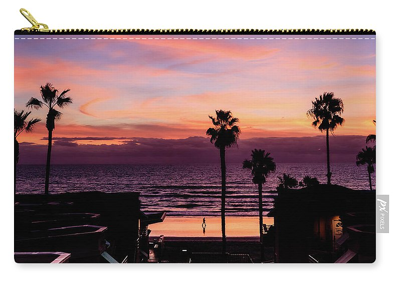 Lone Carry-all Pouch featuring the digital art Sunset Walker by Stevie Benintende
