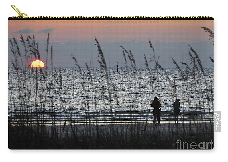 Sunset Carry-all Pouch featuring the photograph Sunset Watching by David Lee Thompson