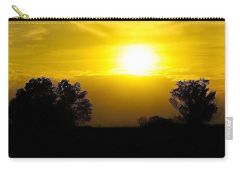 Black Carry-all Pouch featuring the photograph Sunset2 by Svetlana Sewell