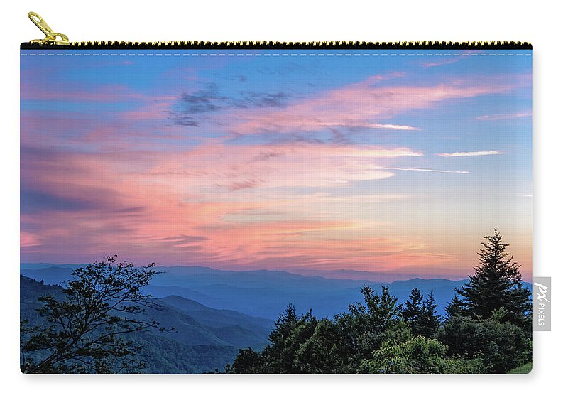 Blue Ride Parkway Carry-all Pouch featuring the photograph Sunset's Blue Hour by Barbara Hayton