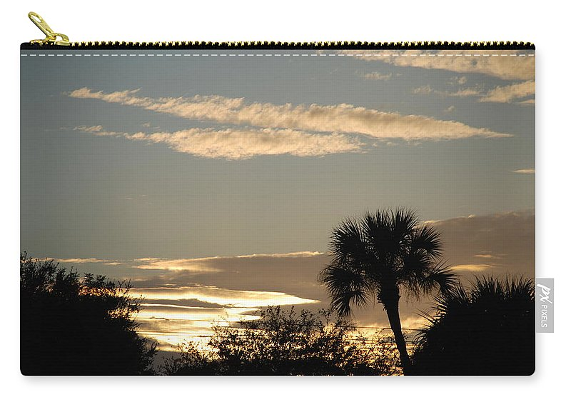 Clouds Palm Trees Carry-all Pouch featuring the photograph Sunsets In The West by Rob Hans