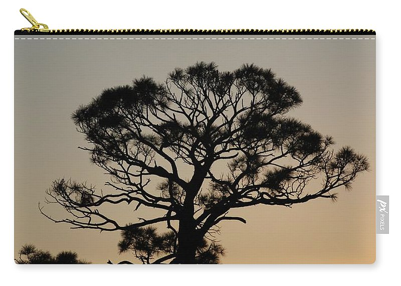 Tree Carry-all Pouch featuring the photograph Sunsetting Trees by Rob Hans