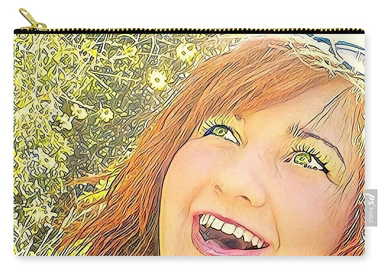 Artist Self Portrait Carry-all Pouch featuring the photograph Sunshine And Laughter by Tarisa Smith