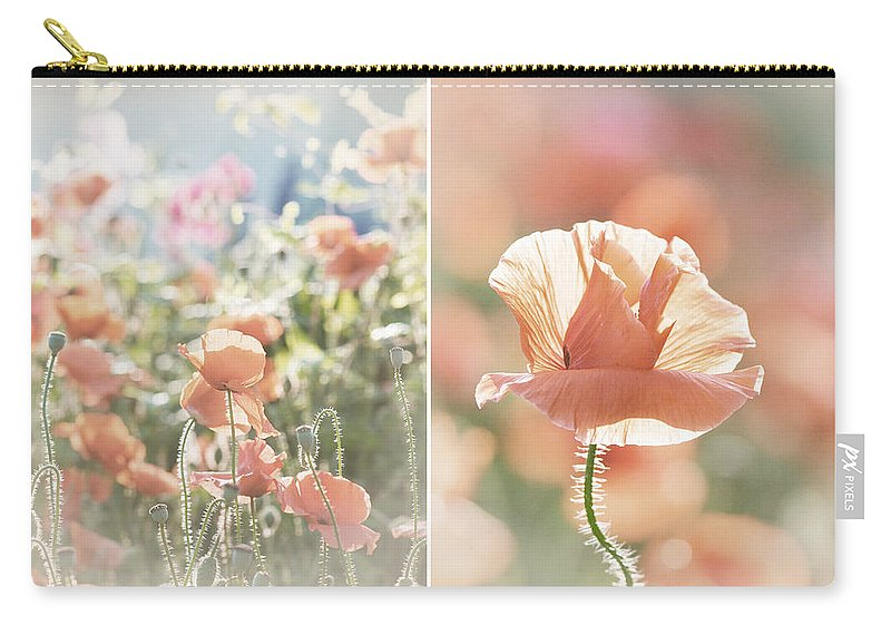 Lisa Knechtel Carry-all Pouch featuring the photograph Sunshine And Poppies by Lisa Knechtel