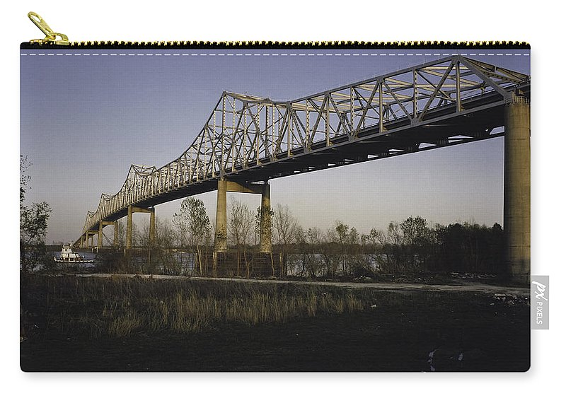 Bridge Carry-all Pouch featuring the photograph Sunshine Bridge by Herman Robert