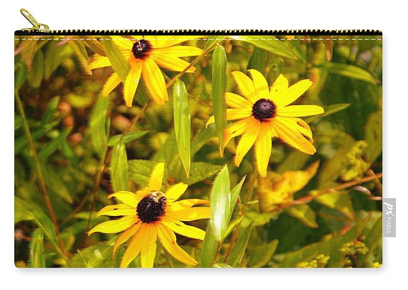Macro Photography Carry-all Pouch featuring the photograph Sunshine Daisies by Sonali Gangane