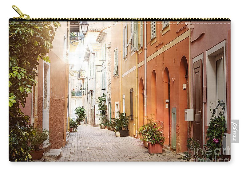 Villefranche-sur-mer Carry-all Pouch featuring the photograph Sunshine In Villefranche-sur-mer by Elena Elisseeva