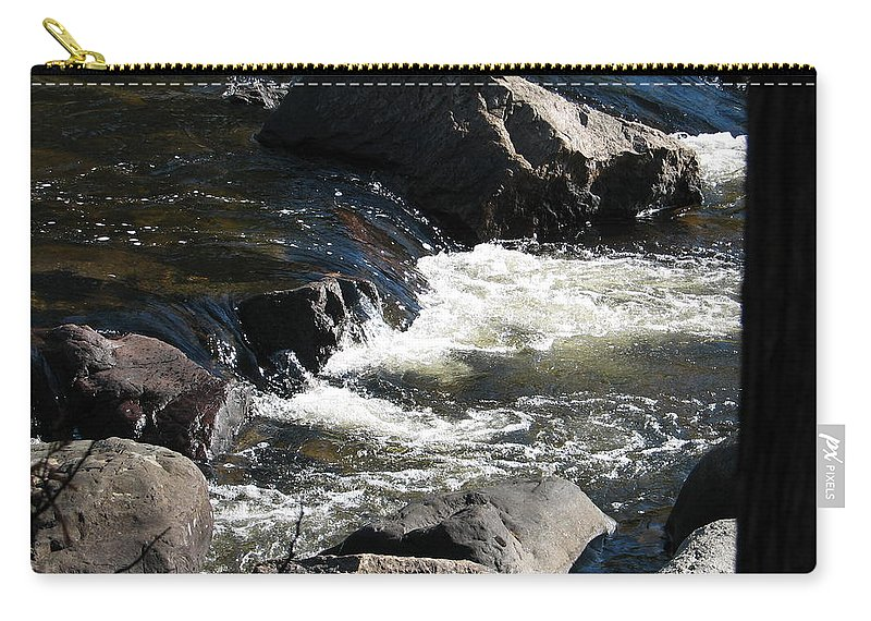 Waterfall Carry-all Pouch featuring the photograph Sunshine On The Fall by Kelly Mezzapelle