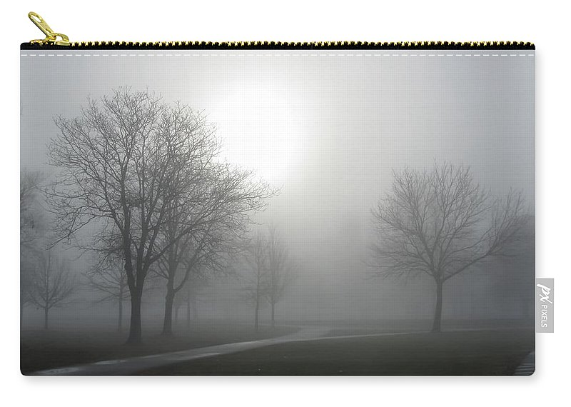 Sunshine Through The Fog Carry-all Pouch featuring the photograph Sunshine Through The Fog by Cynthia Woods