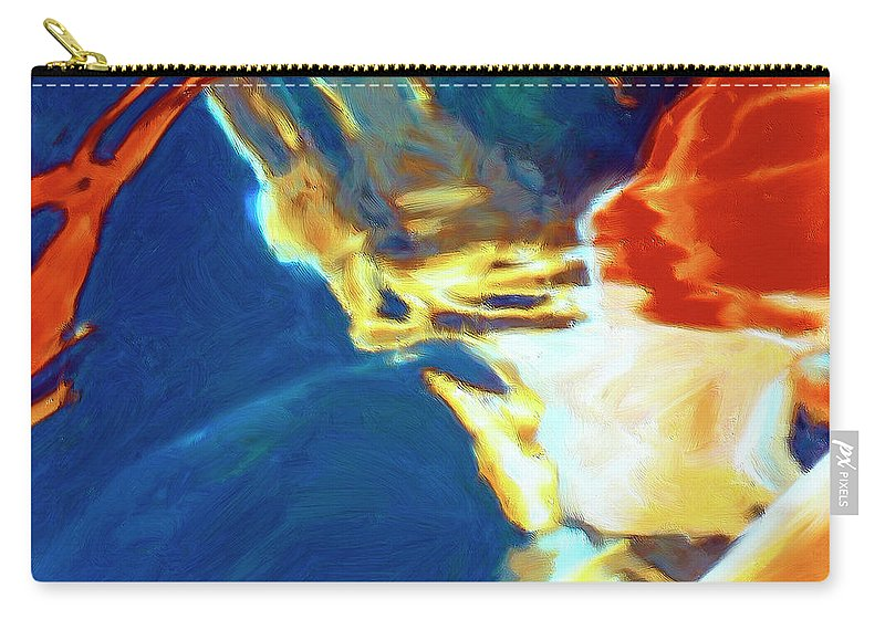 Abstract Carry-all Pouch featuring the painting Sunspot by Dominic Piperata