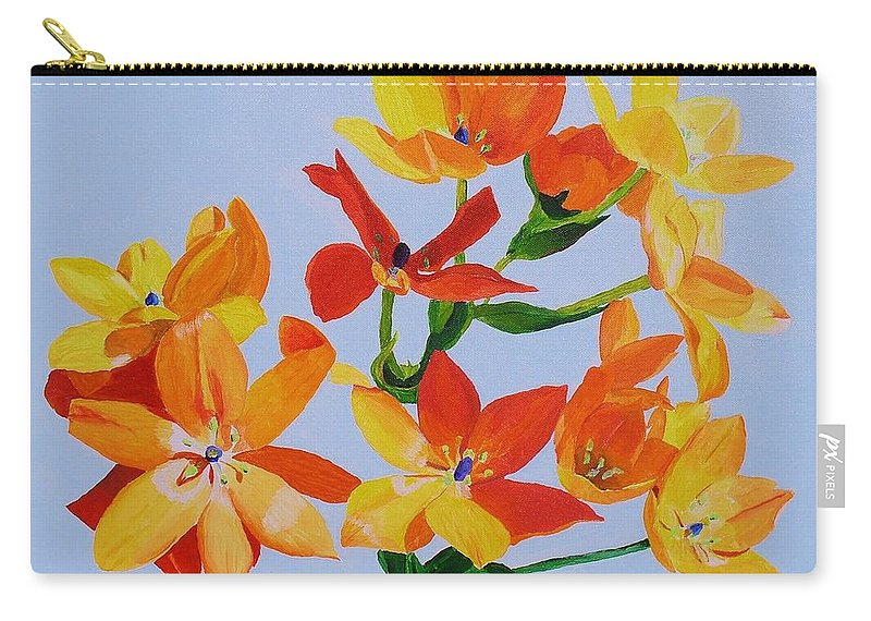Flowers Carry-all Pouch featuring the painting Sunstar by Rodney Campbell