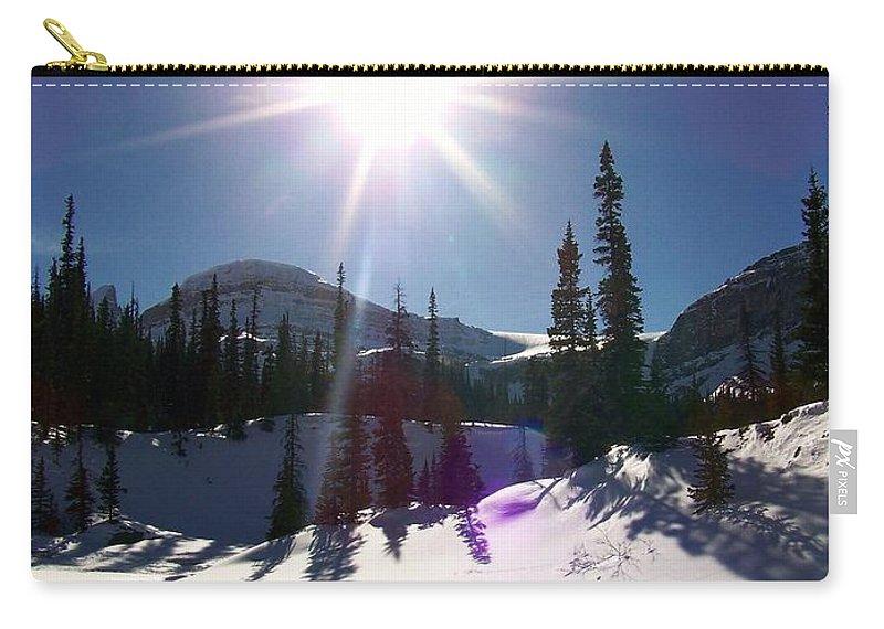 Sun Carry-all Pouch featuring the photograph Sunstar Throws Long Shadows by Greg Hammond