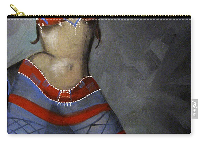 Dancer Carry-all Pouch featuring the painting Super Dancing Wonder Woman by Kelly King