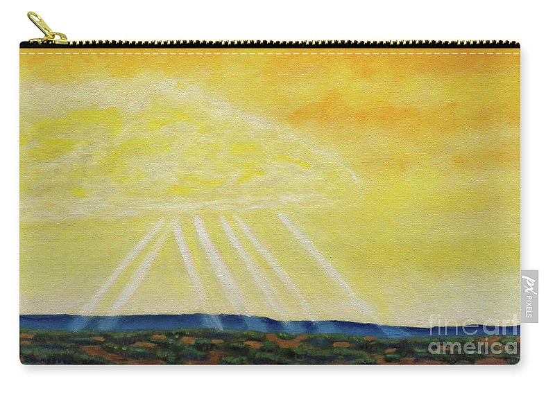 Landscape Carry-all Pouch featuring the painting Super Seven by Brian Commerford