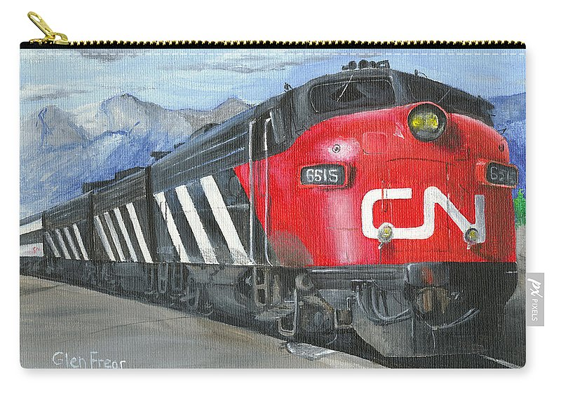 Canadian National Carry-all Pouch featuring the painting Supercontinental At Jasper by Glen Frear