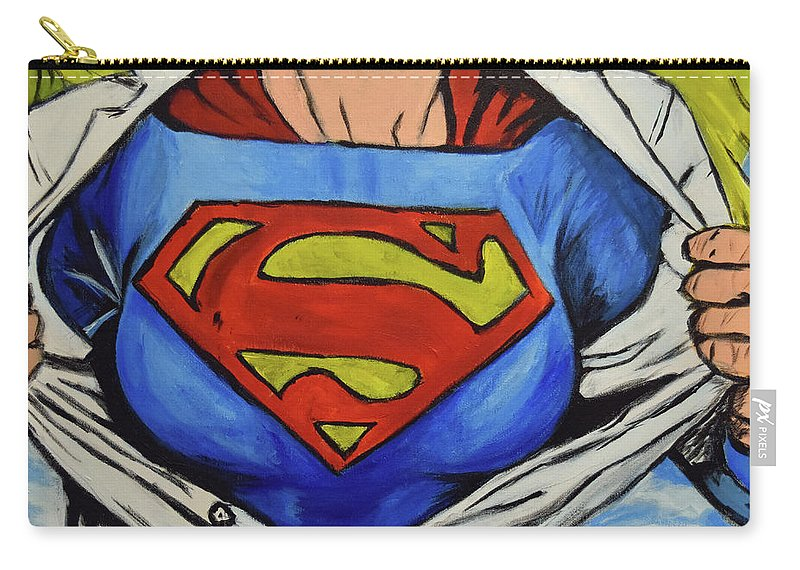 Carry-all Pouch featuring the painting Supergirl by Squid XIII
