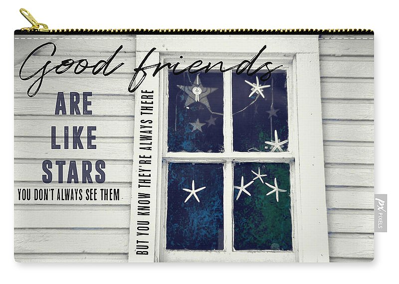 Window Carry-all Pouch featuring the photograph Superstars Quote by JAMART Photography