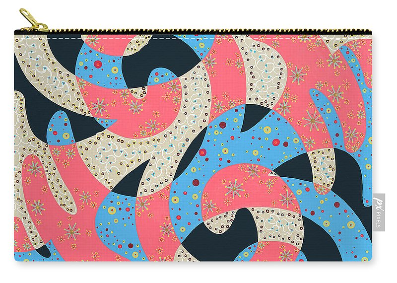 Abstract Carry-all Pouch featuring the painting Surf Dance by Louise Hankes