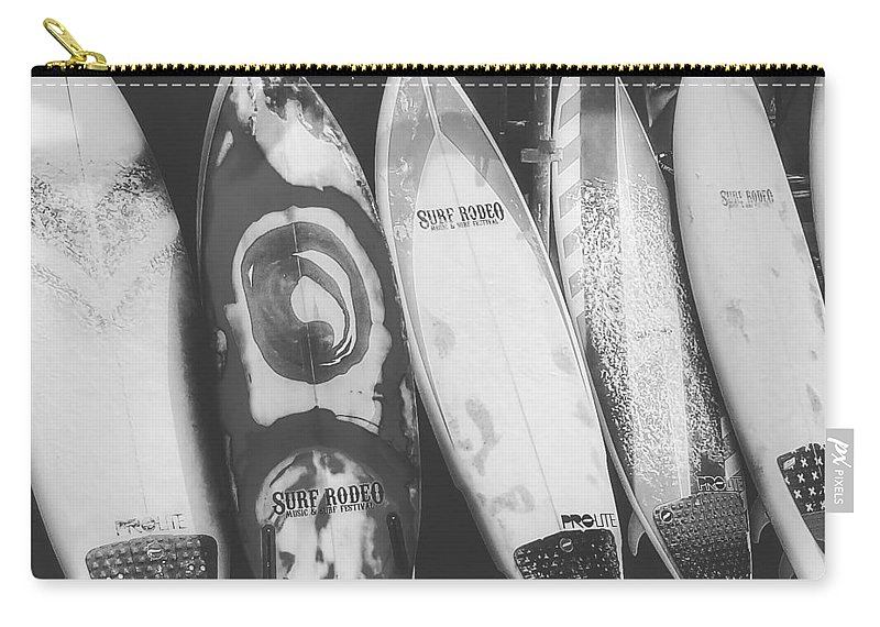 Carry-all Pouch featuring the photograph Surf Rodeo by Beth LaFata
