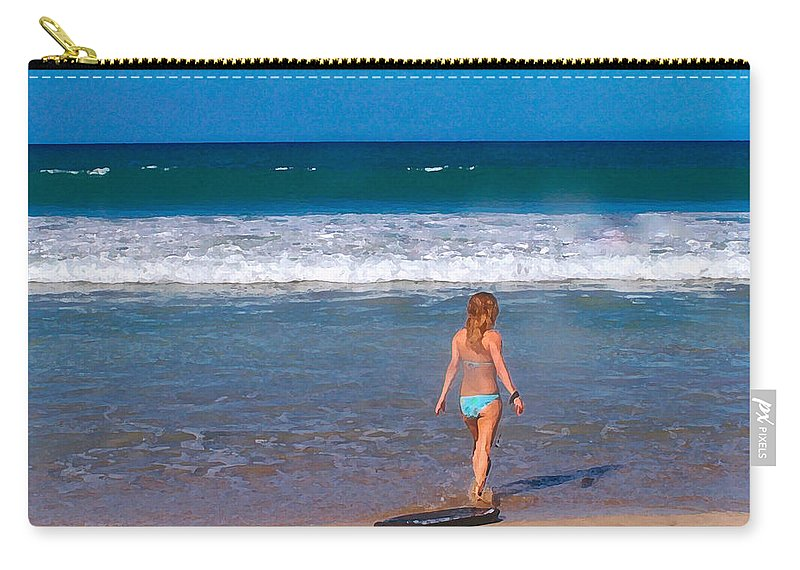Ocean Carry-all Pouch featuring the photograph Surf Up by Athala Carole Bruckner