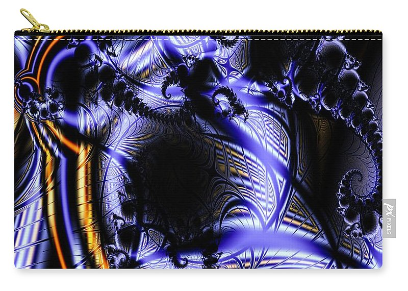 Surface Pattern Carry-all Pouch featuring the digital art Surface Pattern by Ron Bissett