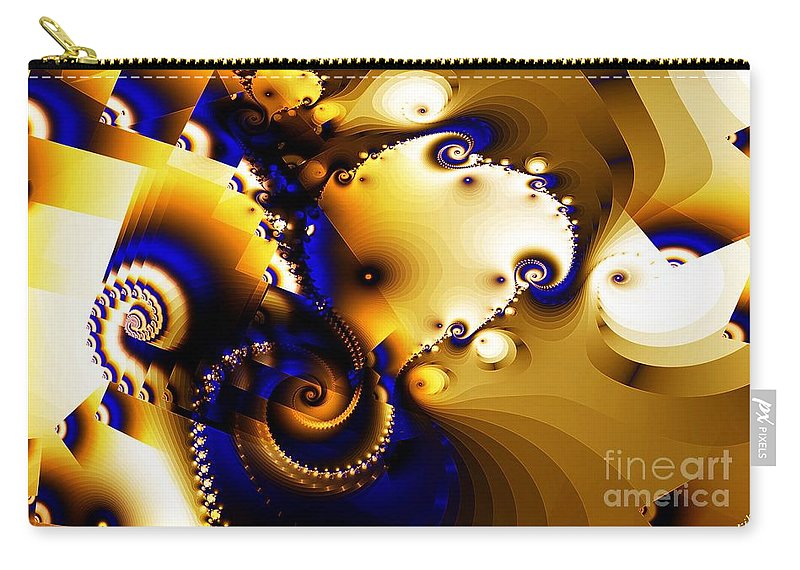 Surface Carry-all Pouch featuring the digital art Surfaces In Space by Ron Bissett
