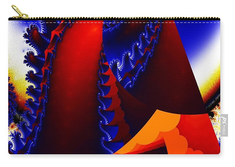 Digital Art Carry-all Pouch featuring the digital art Surfacing by Ron Bissett